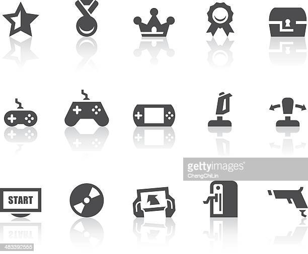 Video Games Icons | Simple Black Series