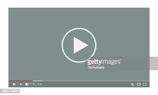 Video player in a flat style. Ideal for web application : stock vector