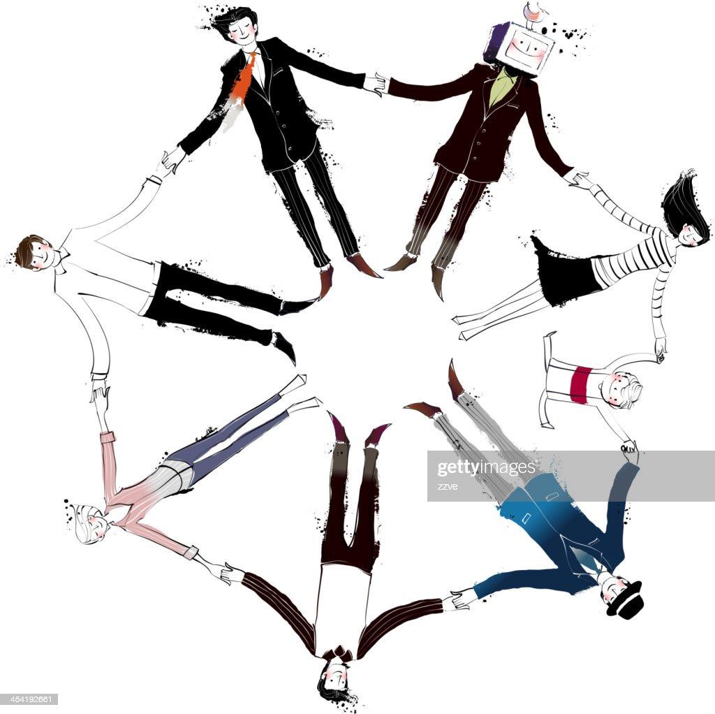 View of people : Vector Art