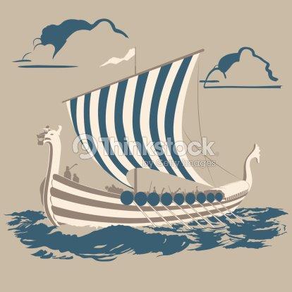 Viking Ship stock vector | Thinkstock