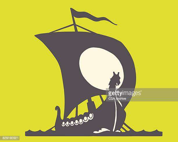 Viking Ship Stock Illustrations and Cartoons | Getty Images