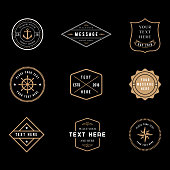 Set of vintage minimal badge  designs.