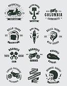 Vintage Badges Motorcycle: