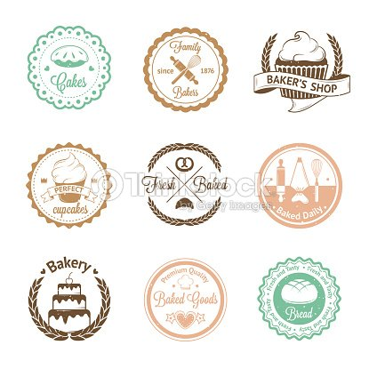 Vintage Bakery Badges Labels And Logos Vector Art