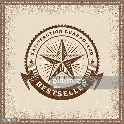 Vintage Bestseller Label : Arte vettoriale