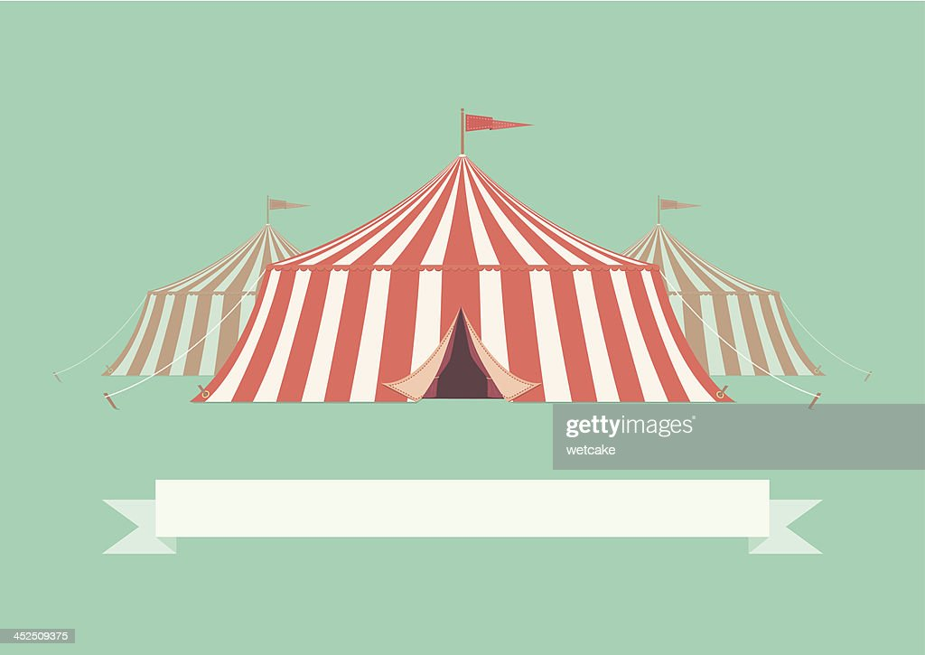vintage big top circus tent vector art getty images