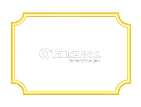 5f5673af77ad Vintage blank gold frame isolated on white background vector illustration