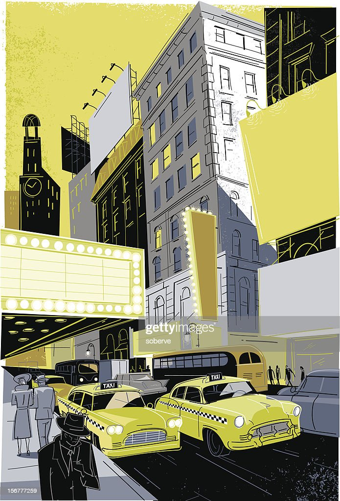 Vintage Broadway : Vector Art