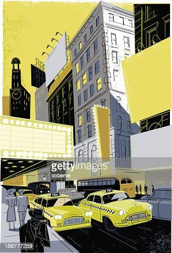 Vintage Broadway : Vector Art