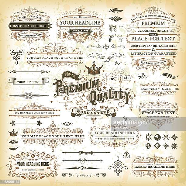 Vintage calligraphic elements and design logos