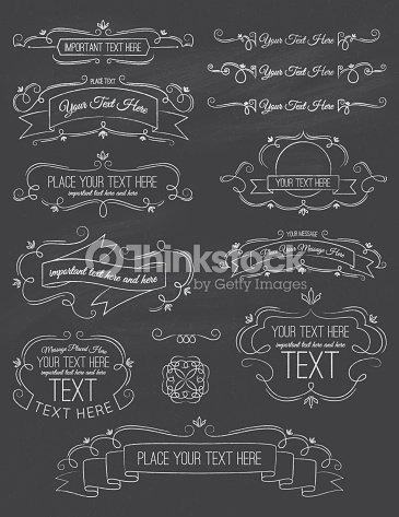 vintage calligraphy chalkboard elements seven vector art thinkstock