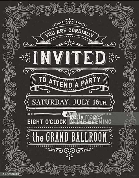 Chalkboard Invitation Vintage