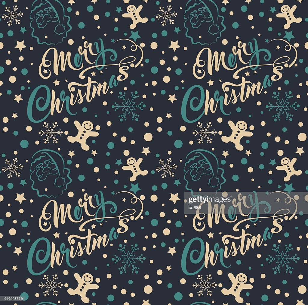 Vintage Christmas Wallpaper : Vector Art