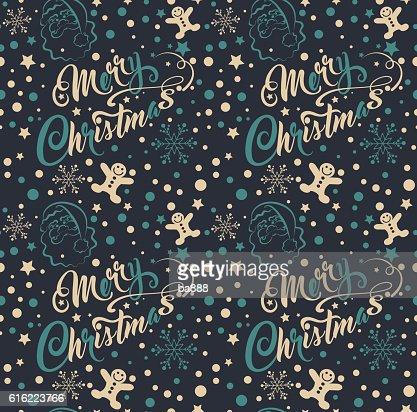 Vintage Christmas Wallpaper : Vector Art
