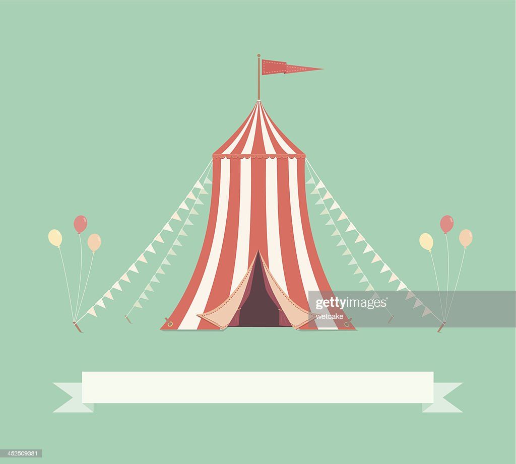 vintage circus tent with pennants vector art getty images