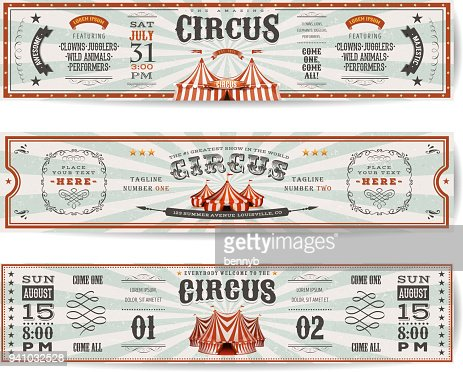 Vintage Circus Website Banners Templates : Vector Art