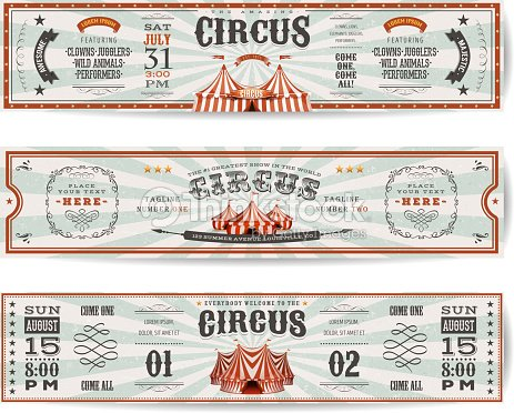 Vintage Circus Website Banners Templates : arte vettoriale