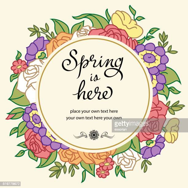 Vintage Colorful Spring