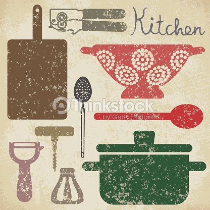 les affiches vintage cuisine 6 clipart vectoriel thinkstock. Black Bedroom Furniture Sets. Home Design Ideas