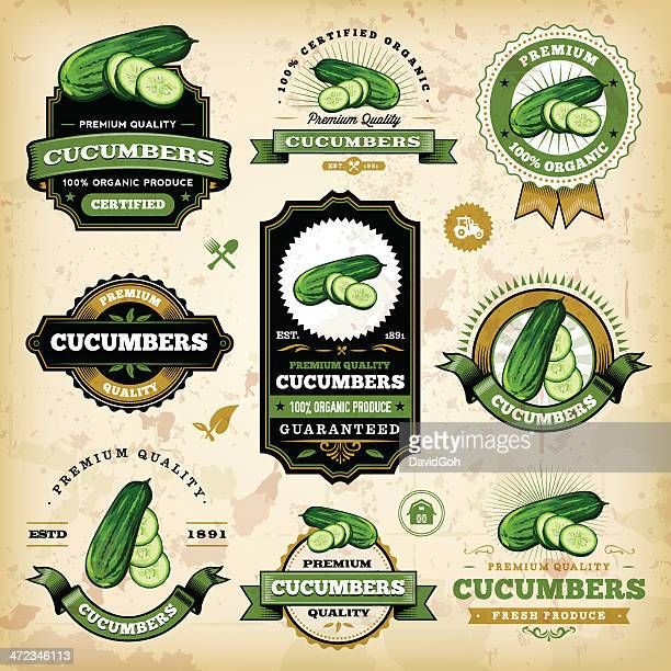 Vintage Cucumber Labels