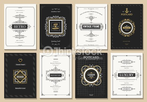 Vintage design card : stock vector