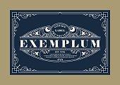 Vintage Elegant Line Art Logo, Emdlem and Monogram Design, vector template.