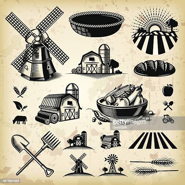 Illustrations Vintage ferme