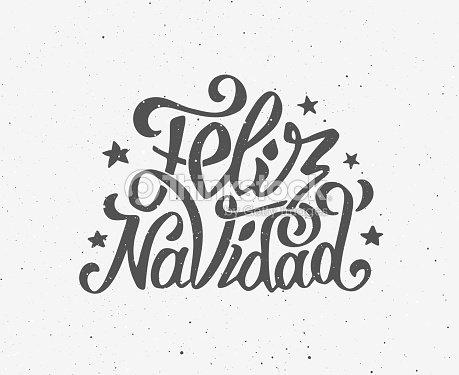 Feliz Navidad Vintage De Vector De Póster Tipográfica arte