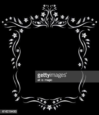Vintage floral frame ornament. : Vektorgrafik