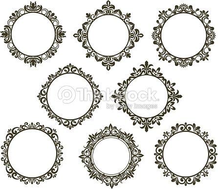 flores vintage frames set arte vectorial thinkstock. Black Bedroom Furniture Sets. Home Design Ideas
