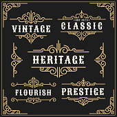 Vintage flourishes vine frame and luxurious calligraphy decorative frame element design for label, tattoo and frame banner. Vector illustration