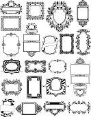 A set of vintage style background frame designs