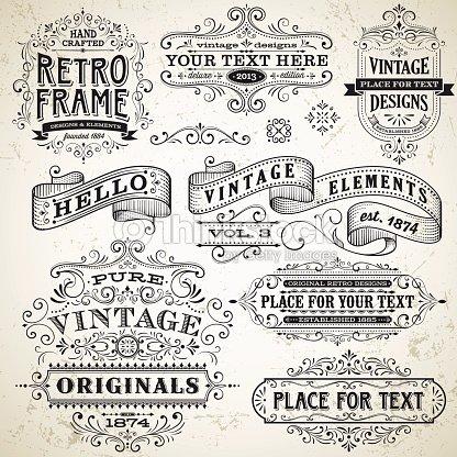 Vintage Frames And Design Elements Vector Art | Thinkstock