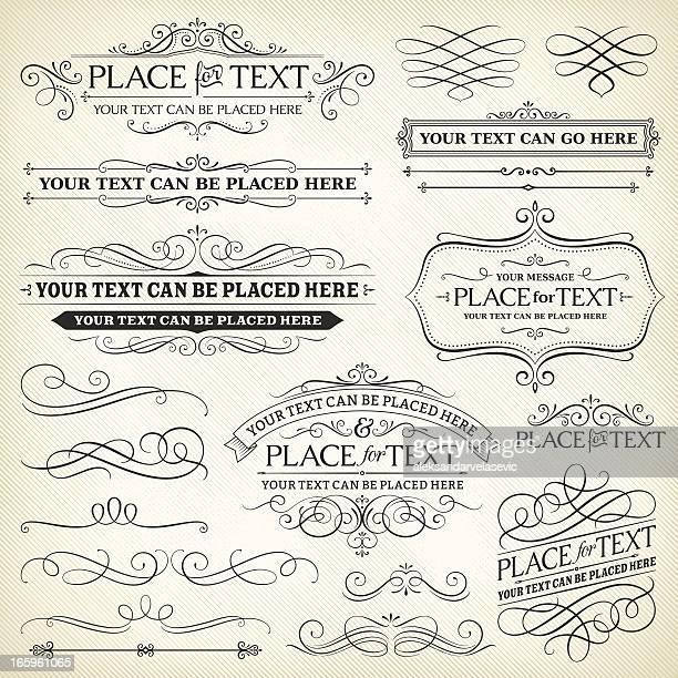 Vintage Rahmen und Scroll-Elemente