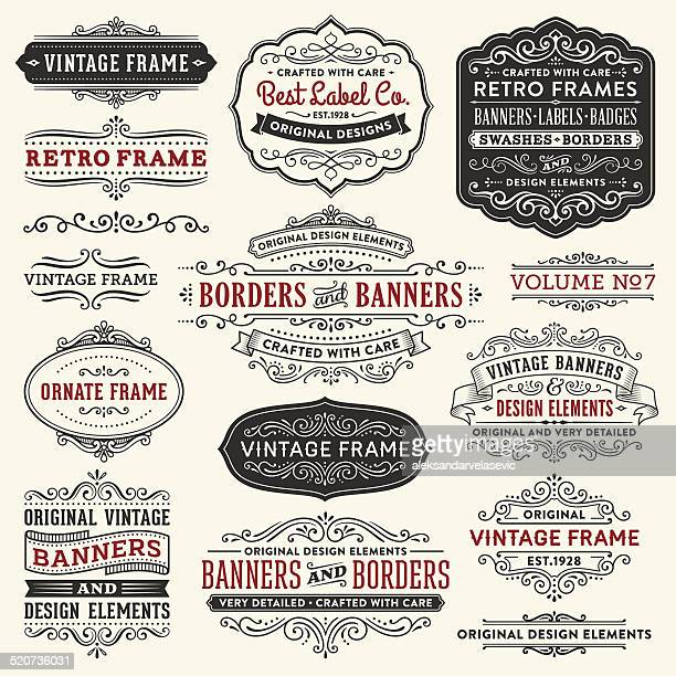 Vintage Frames,Banners and Badges