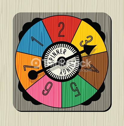 vintage game spinner with numbers and arrow ベクトルアート thinkstock