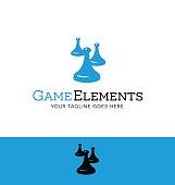 vintage game tokens from board games. vector illustration.