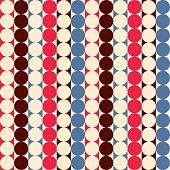 Vintage geometric seamless pattern. Retro fabric print