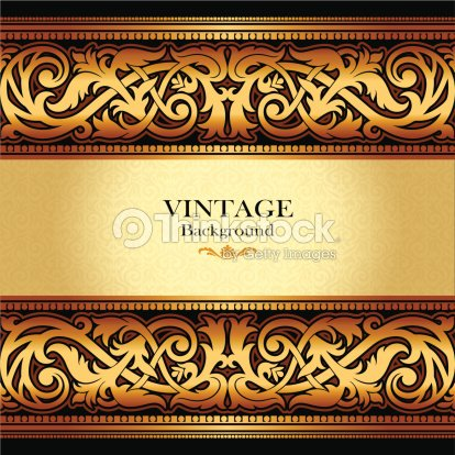 Vintage gold background beautiful greeting card and luxury vintage gold background beautiful greeting card and luxury invitation vector art stopboris Choice Image
