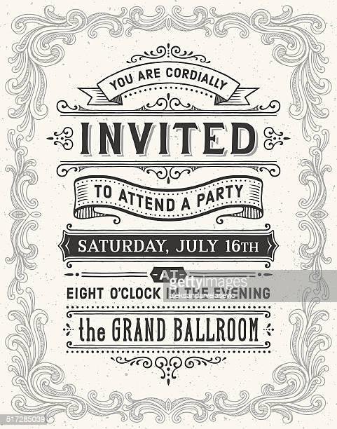 Vintage Hand Drawn Invitation