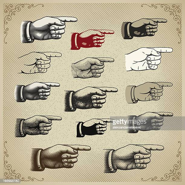 Vintage Hand Pointing