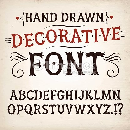 Vintage hand written vector font vector art thinkstock for Scritte vintage
