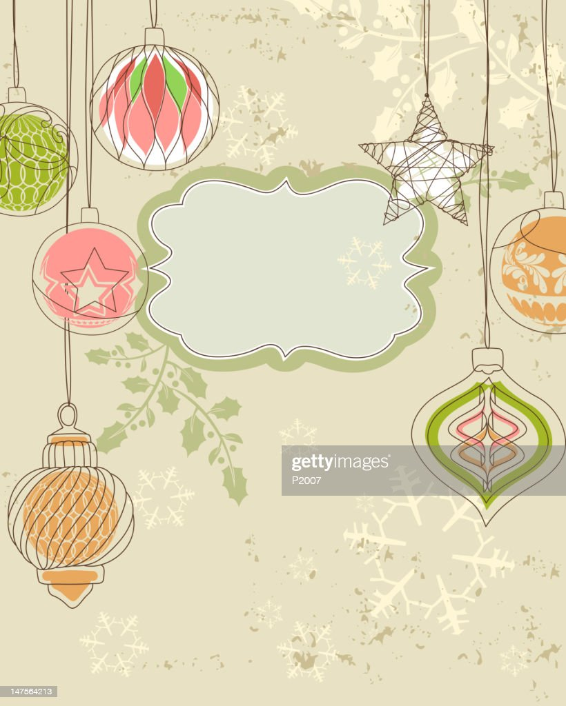 Vintage Holiday Background : Vector Art