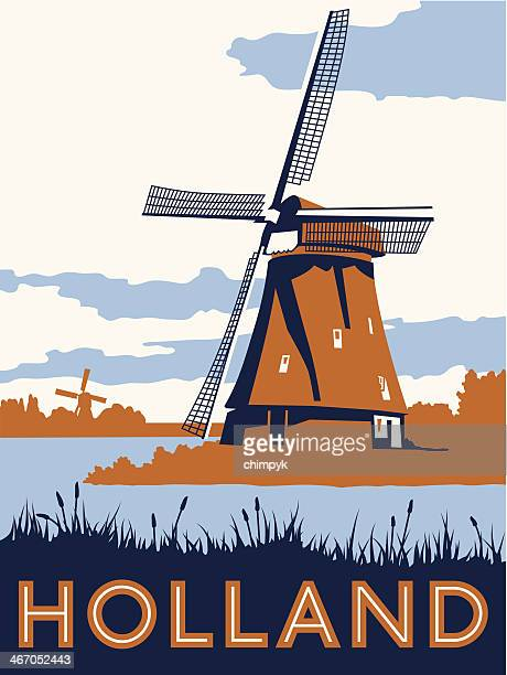 Vintage Holland Travel Poster