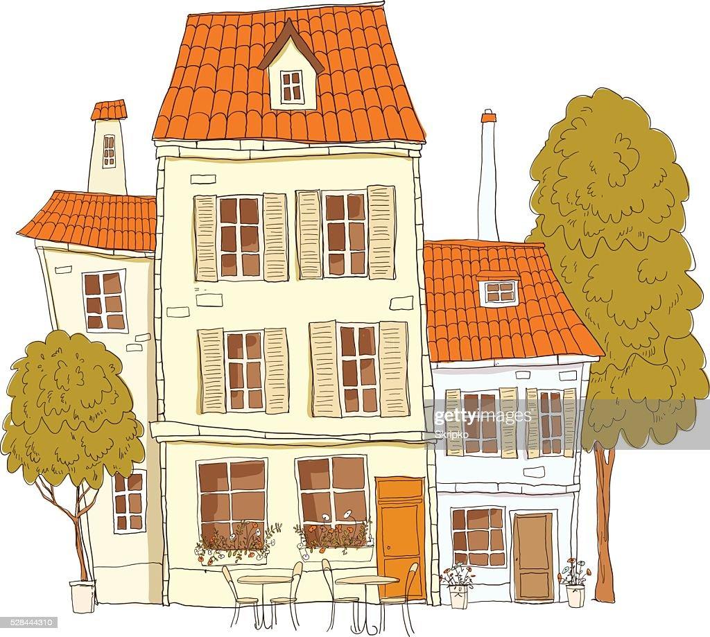 Vintage house vector
