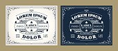 Vintage label design set with an example of your text.
