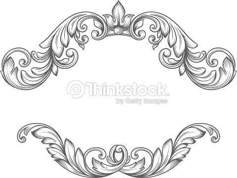 Vintage Label Frame Design Elements Vector Art | Thinkstock