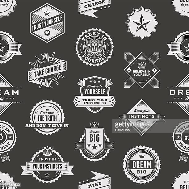 Vintage Label Seamless Pattern