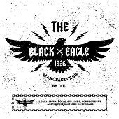 """vintage label """" black eagle""""(T-Shirt Print)"""