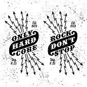 """vintage label """" rock don't stop"""" ( T-Shirt Print )"""